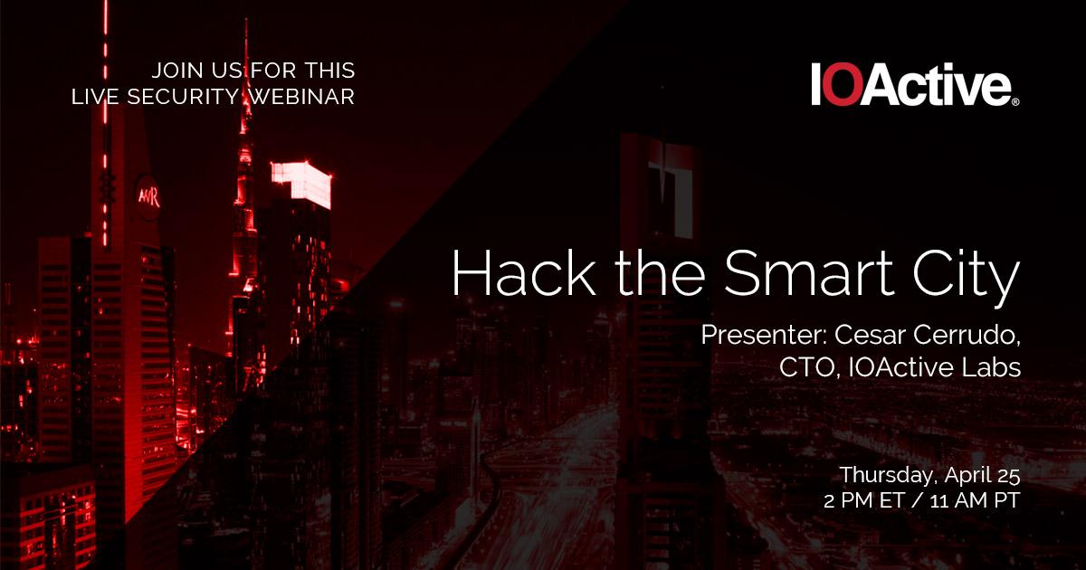 hack the smart city webinar